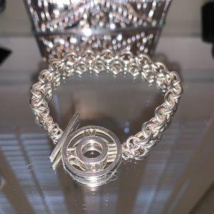 Tiffany Sterling Silver Atlas Chain link bracelet